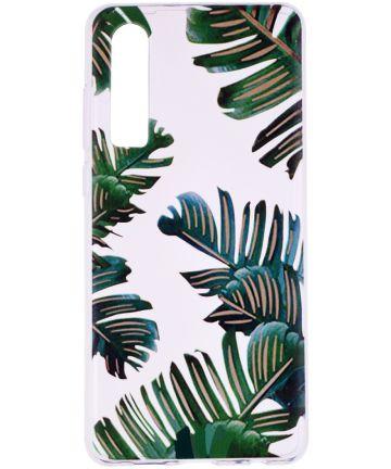 Huawei P30 TPU Hoesje met Marmer Opdruk Palm Hoesjes