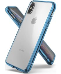 Ringke Fusion Apple iPhone XS Hoesje Blue
