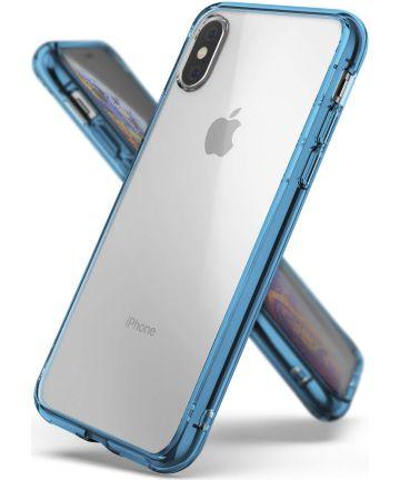 Ringke Fusion Apple iPhone XS Hoesje Blue Hoesjes