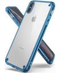 Ringke Fusion Hoesje Apple iPhone XS Max Aqua Blue
