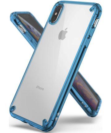 Ringke Fusion Hoesje Apple iPhone XS Max Aqua Blue Hoesjes