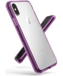 Ringke Fusion iPhone X Hoesje Doorzichtig Orchid Purple