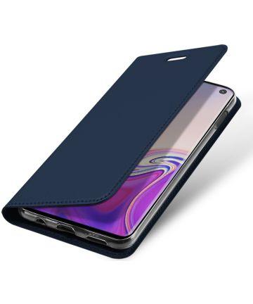 Dux Ducis Premium Book Case Samsung Galaxy S10E Hoesje Blauw Hoesjes