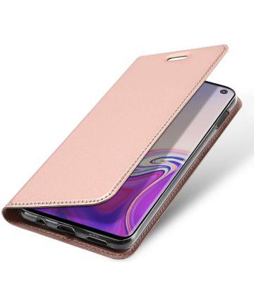 Dux Ducis Premium Book Case Samsung Galaxy S10E Hoesje Roze Goud Hoesjes