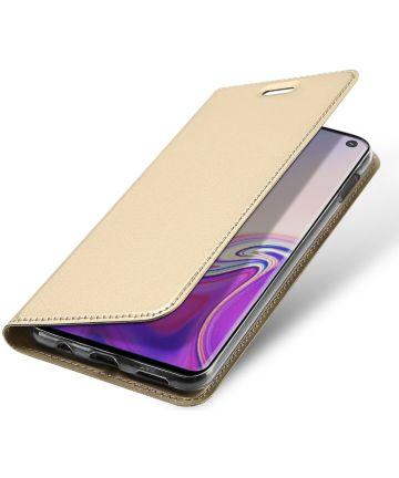Dux Ducis Premium Book Case Samsung Galaxy S10E Hoesje Goud Hoesjes