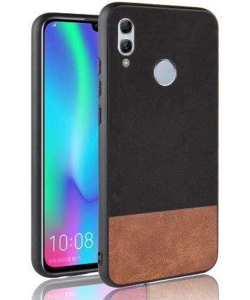 Huawei P Smart (2019) Leren Coating Hybride Hoesje Zwart Hoesjes