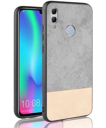 Huawei P Smart (2019) Leren Coating Hybride Hoesje Grijs Hoesjes