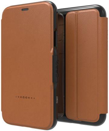 Gear4 D3O Oxford BookCase Apple iPhone XS Bruin Hoesjes