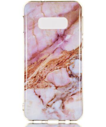 Samsung Galaxy S10E TPU Back Cover met Marmer Print Roze Goud Hoesjes