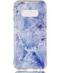 Samsung Galaxy S10E TPU Back Cover met Marmer Print Blauw