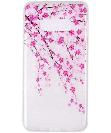 Samsung Galaxy S10E TPU Back Cover met Print Blossom Hoesjes