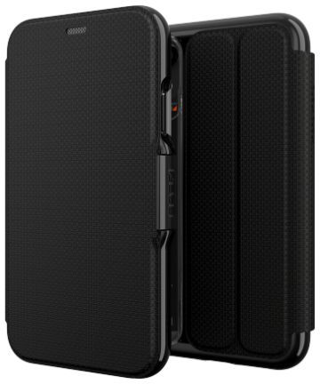 Gear4 D3O Oxford BookCase Apple iPhone XR Telefoon Hoesje Zwart Hoesjes