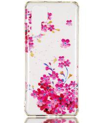 Huawei P30 Pro TPU Hoesje met Bloemen Print