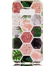 Samsung Galaxy S10E TPU Hoesje met Hexagon Print