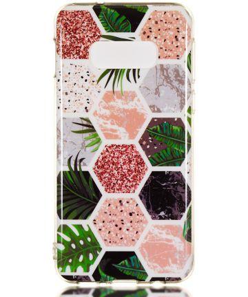 Samsung Galaxy S10E TPU Hoesje met Hexagon Print Hoesjes