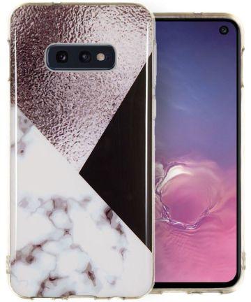 Samsung Galaxy S10E TPU Hoesje met Bruin Print Hoesjes