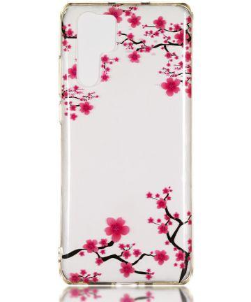 Huawei P30 Pro TPU Hoesje met Blossom Print Hoesjes