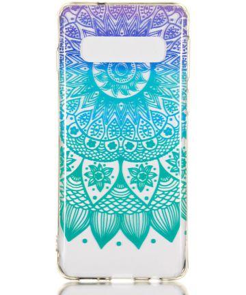 Samsung Galaxy S10 Transparant TPU Hoesje met Mandala Print Hoesjes