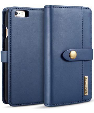 Apple iPhone 6s Echt Leren 2-in-1 Bookcase en Back Cover Hoesje Blauw Hoesjes