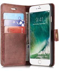 Apple iPhone SE (2020) Portemonnee Hoesje Echt Leer Rood