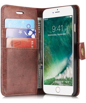 Apple iPhone SE (2020) Portemonnee Hoesje Echt Leer Rood Hoesjes