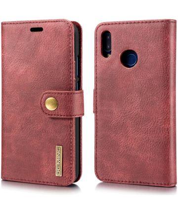 Huawei P20 Lite Leren Portemonnee Hoesje Rood Hoesjes