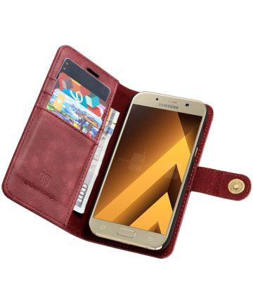 Samsung Galaxy A5 (2017) Echt Leren Portemonnee Hoesje Rood Hoesjes