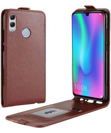 Huawei P Smart (2019) Verticaal Flip Hoesje Bruin Hoesjes