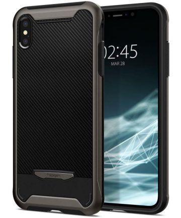Spigen Hybrid NX Hoesje Apple iPhone XS Max Gunmetal Hoesjes