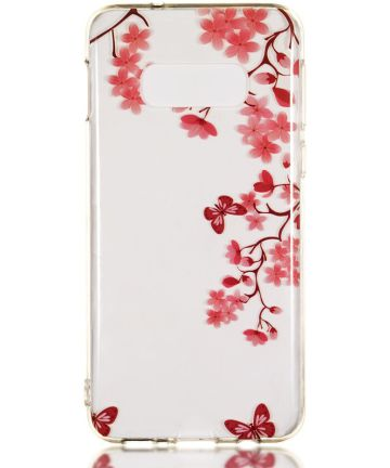 Samsung Galaxy S10E TPU Back Cover met Print Vlinder Hoesjes