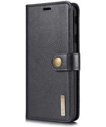 Samsung Galaxy J4 Plus Leren 2-in-1 Portemonnee Hoesje Zwart