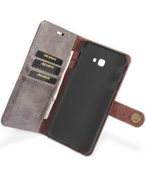 Samsung Galaxy J4 Plus Leren 2-in-1 Portemonnee Hoesje Grijs