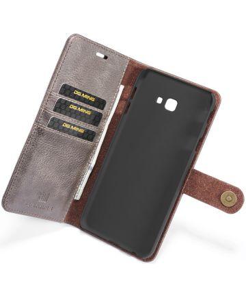 Samsung Galaxy J4 Plus Leren 2-in-1 Portemonnee Hoesje Grijs Hoesjes