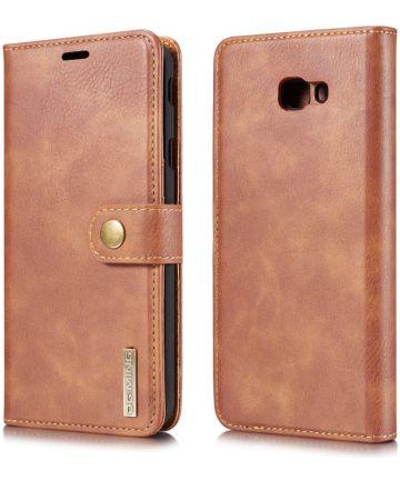 Samsung Galaxy J4 Plus Leren 2-in-1 Portemonnee Hoesje Bruin