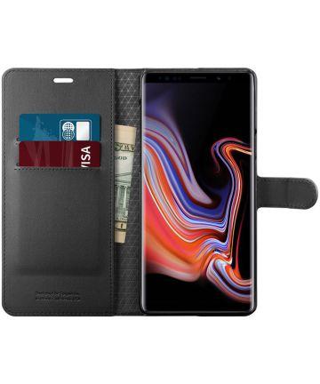 Spigen Wallet S Flip Hoesje Samsung Galaxy Note 9 Zwart Hoesjes
