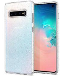 Spigen Liquid Crystal Hoesje Samsung Galaxy S10 Glitter Transparant