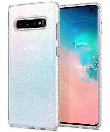 Spigen Liquid Crystal Hoesje Samsung Galaxy S10 Glitter Transparant Hoesjes