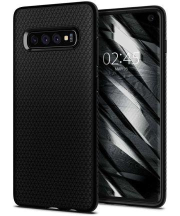 Spigen Liquid Air Hoesje Samsung Galaxy S10 Zwart Hoesjes