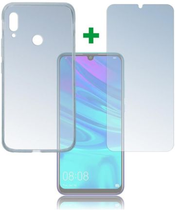 4smarts Tempered Glass + TPU Hoesje Huawei P Smart (2019) Transparant Hoesjes