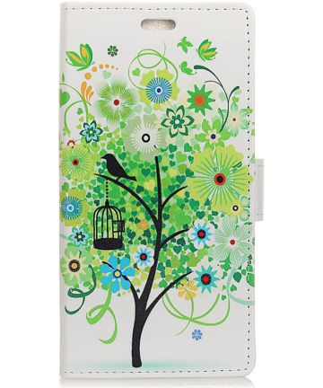 Huawei P30 Lite Portemonnee Hoesje met Print Tree Hoesjes