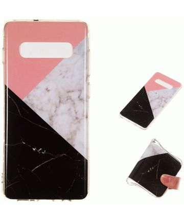 Samsung Galaxy S10 Plus TPU Backcover Marmer Hoesjes