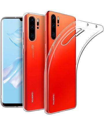 Huawei P30 Pro (New Edition) Hoesje Dun TPU Transparant Hoesjes