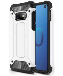 Samsung Galaxy S10E Hoesje Shock Proof Hybride Backcover Wit