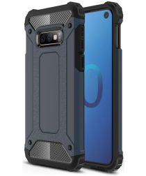 Samsung Galaxy S10E Hoesje Shock Proof Hybride Backcover Donker Blauw