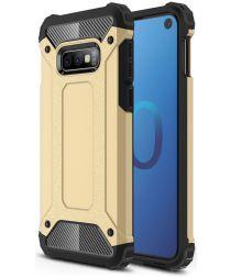 Samsung Galaxy S10E Hoesje Shock Proof Hybride Backcover Goud