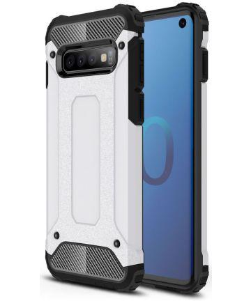 Samsung Galaxy S10 Hoesje Shock Proof Hybride Back Cover Wit Hoesjes