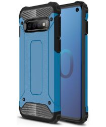 Samsung Galaxy S10 Hoesje Shock Proof Hybride Back Cover Blauw