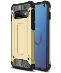 Samsung Galaxy S10 Hoesje Shock Proof Hybride Back Cover Goud
