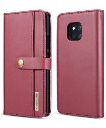 Huawei Mate 20 Pro Leren 2-in-1 Bookcase en Back Cover Hoesje Rood Hoesjes