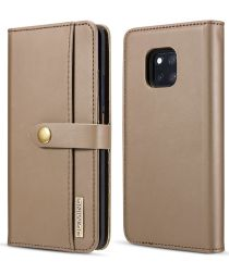 Huawei Mate 20 Pro Leren 2-in-1 Bookcase en Back Cover Hoesje Bruin